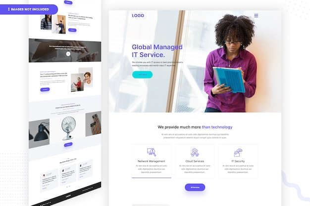 Global managed it service website page