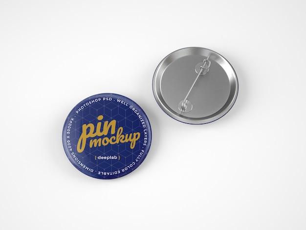 Glossy button pins mockup