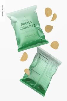 광택있는 칩 가방 모형