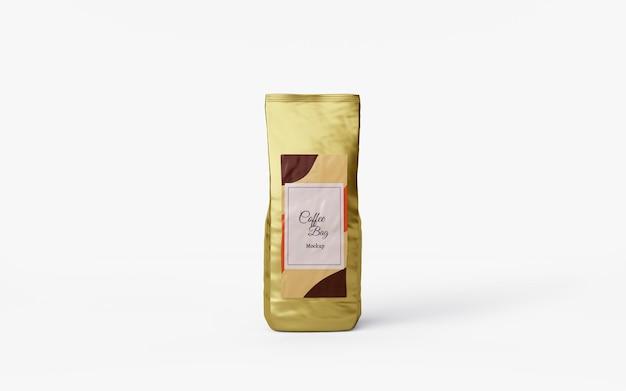Дизайн макета глянцевого кофейного мешка