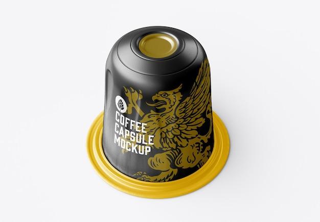 光沢のあるコーヒーカプセルのモックアップ