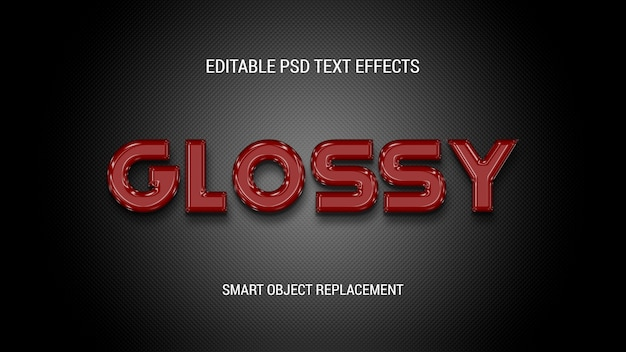 Glossy editable text effects