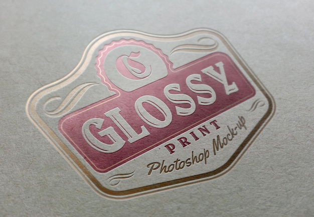 Glossy and fancy logo