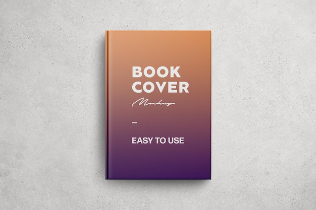 Glossy front book cover mockup
