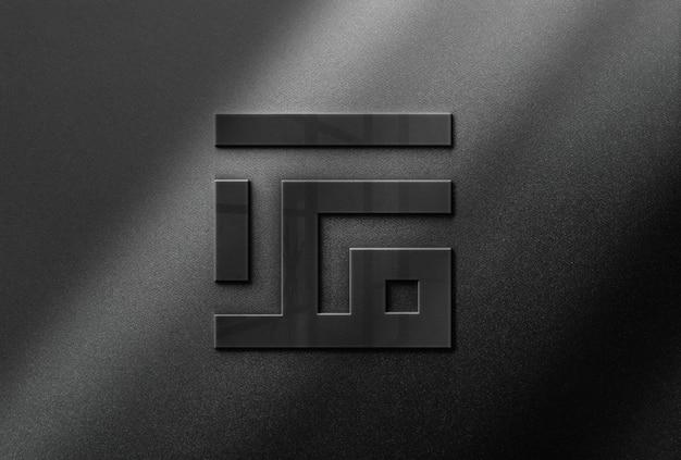 Glossy logo mockup