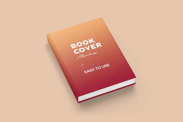 光沢のある嘘つきの本の表紙のモックアップ