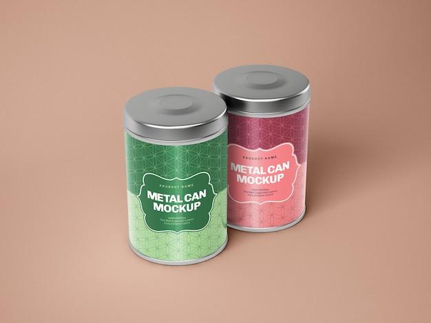 광택있는 금속 양철 깡통 상자 이랑
