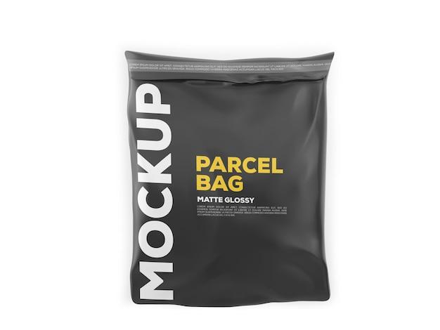 Glossy parcel mockup