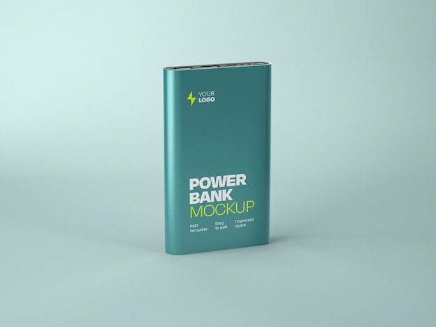 Глянцевый мокап power bank