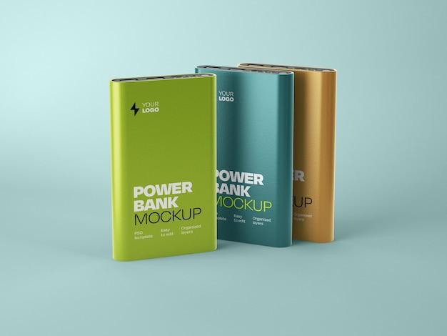 Glossy power bank mockup