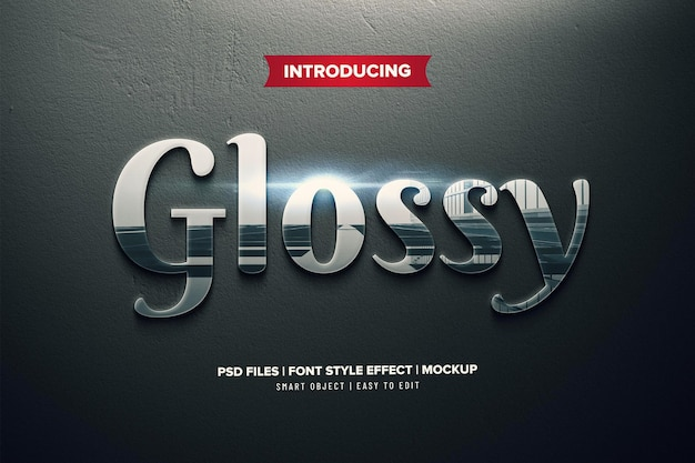 Glossy premium text effect template