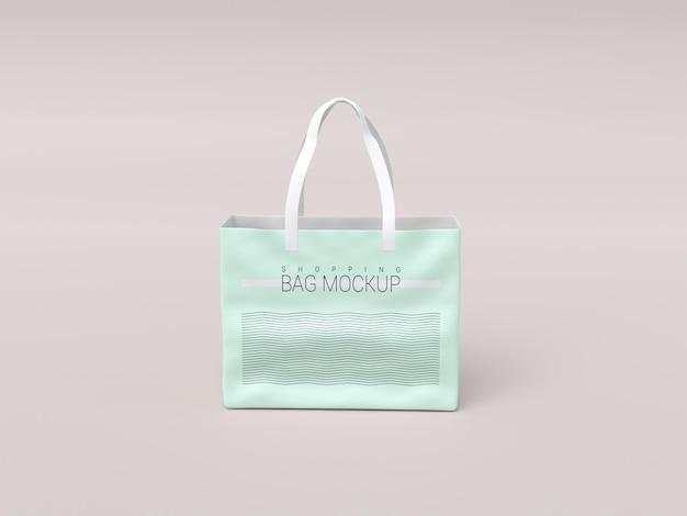 光沢のあるリアルなショッピングバッグのモックアップ