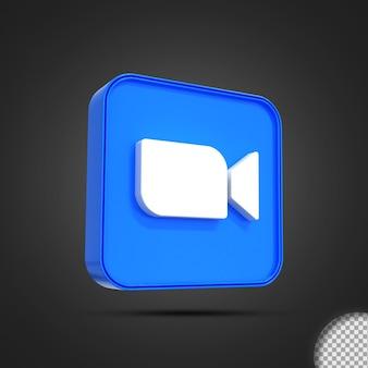 광택 확대/축소 소셜 미디어 로고 아이콘 3d 렌더링