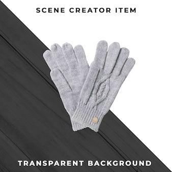 クリッピングパスで分離された手袋。