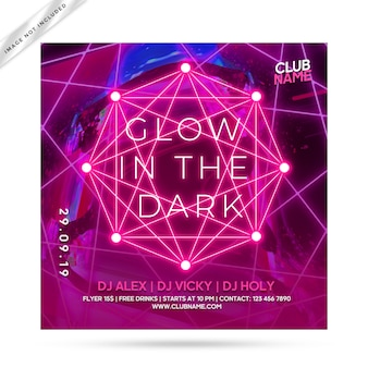 Glow flyer party