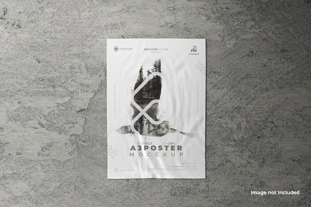 접착제로 붙인 포스터 목업