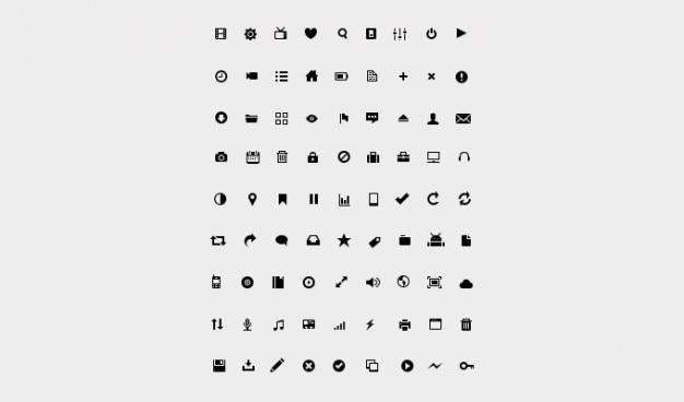 Icon set di glifi glifo glifo mini