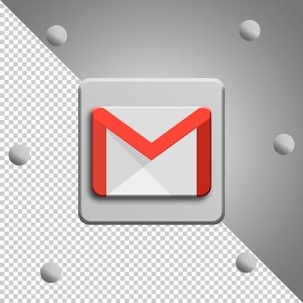 Изолированный рендеринг логотипа gmail