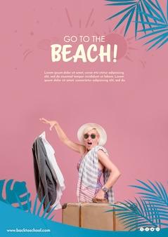 Go to the beach template