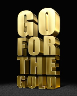 Go for the gold editable text effects