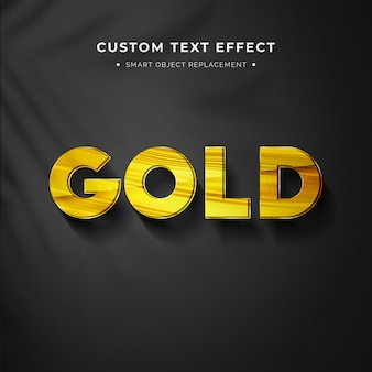 Gold 3d text style