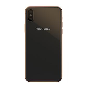 Золотой и темный мобильный макет