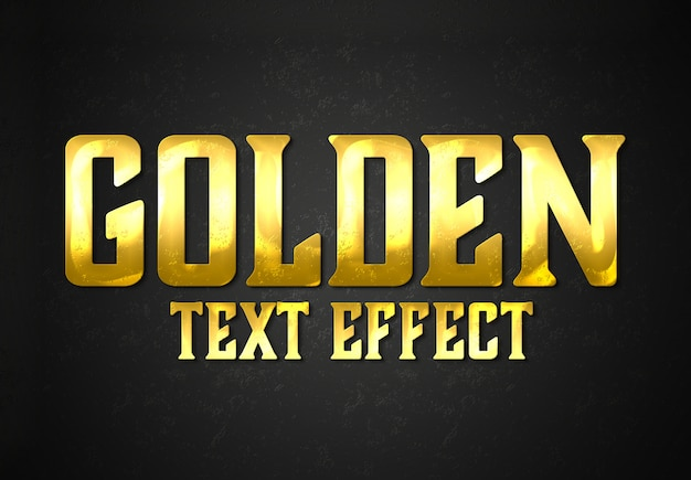 Gold bar text effect style mockup