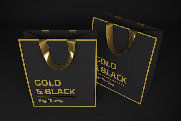 Рендеринг gold & black bag 3d