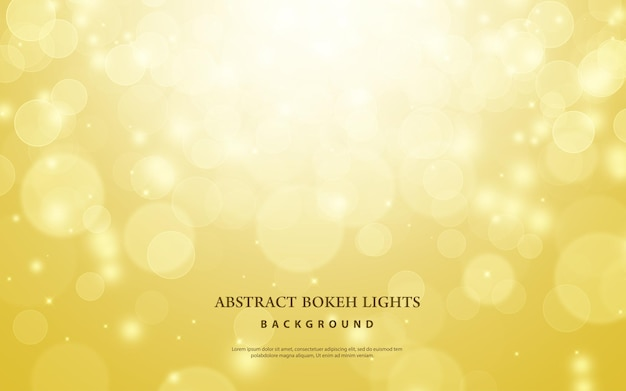 Gold bokeh blur background. christmas and new year light abstract concept. Premium Psd