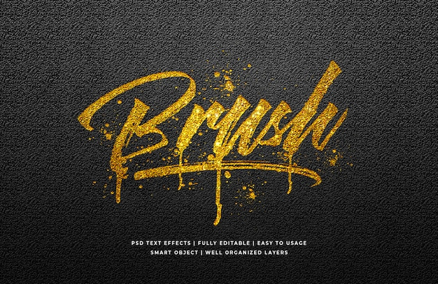 Gold brush text style effect