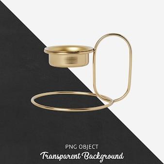透明のゴールドキャンドルホルダー