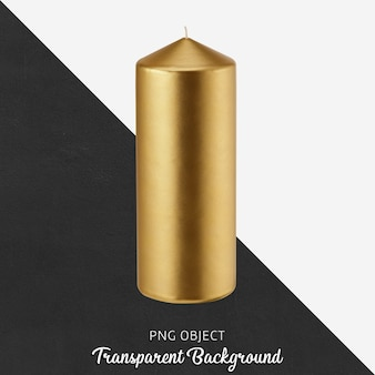 Gold candle on transparent background