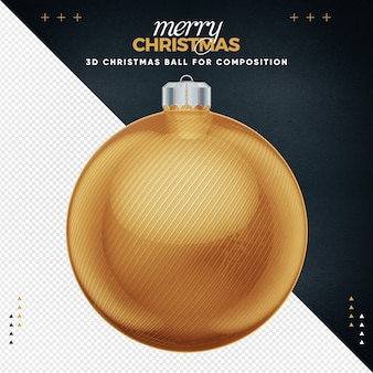 Gold christmas ball for composition