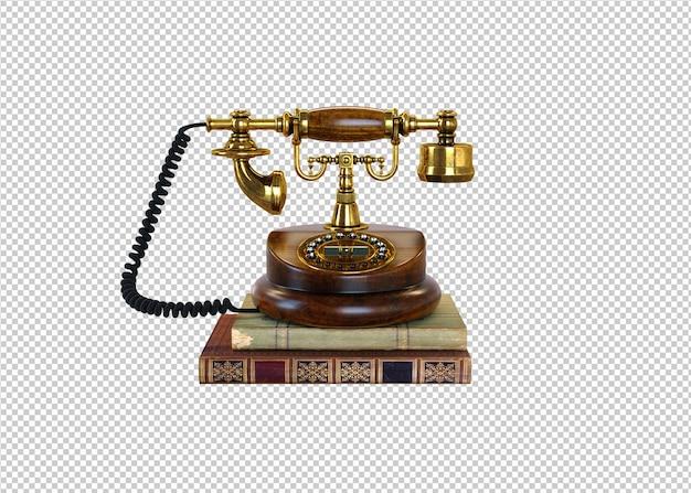 Золотой классический телефон