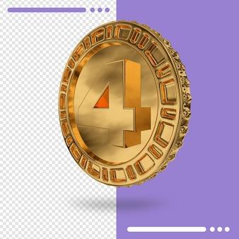 3d 렌더링에서 금화와 숫자