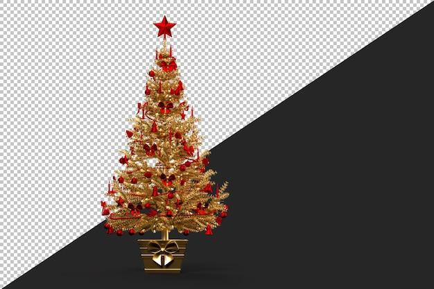 Золотая украшенная елка