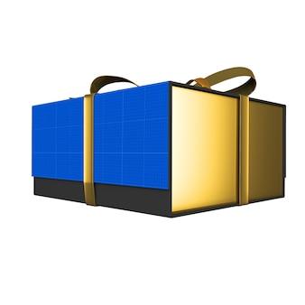 Макет подарочной коробки gold & dark
