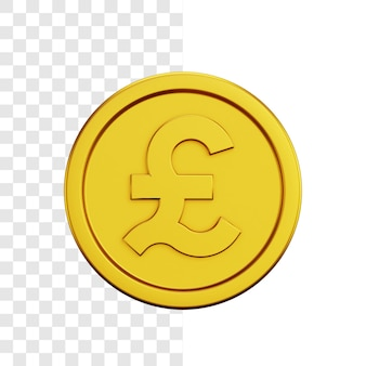 Gold dollar coin 3d illustration concept