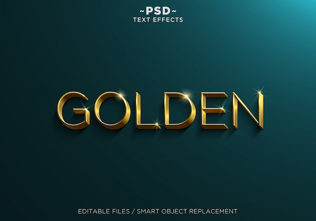 Gold editable text effects