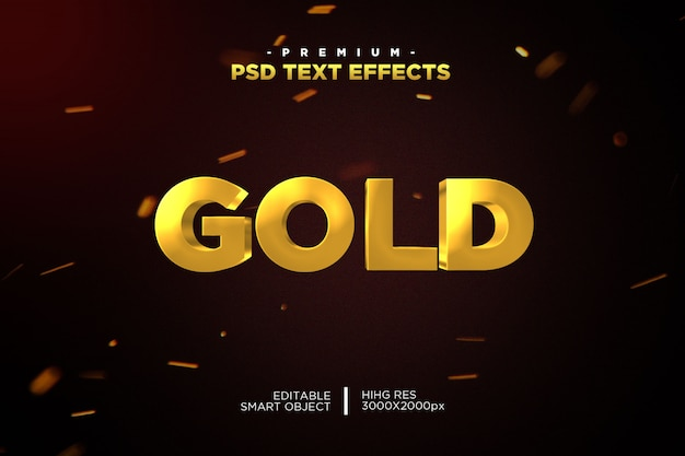 Gold effect photoshop editable