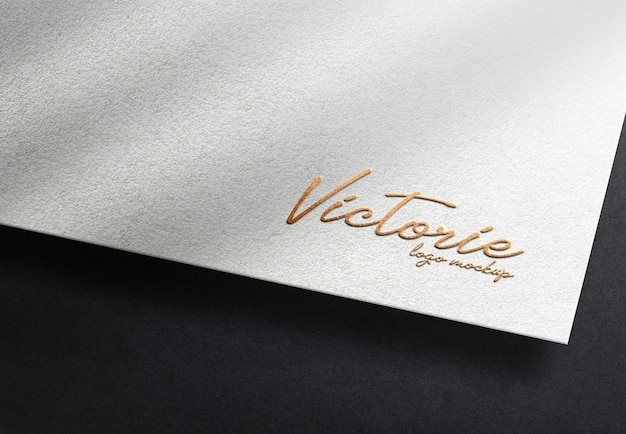 Gold embossed realistic mockup