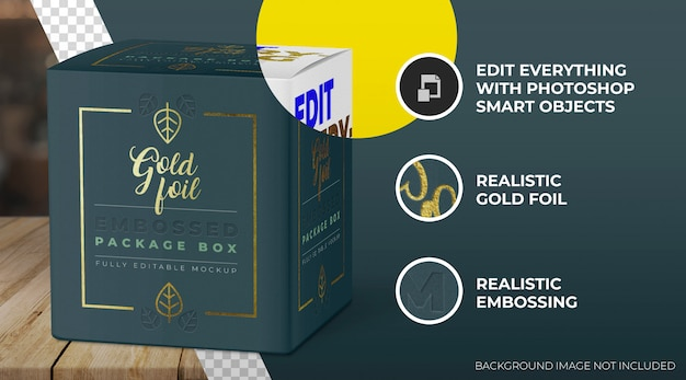 금박 상자 모형