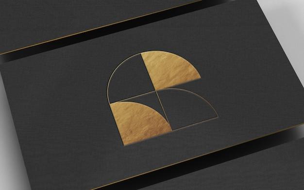 Золотая фольга логотип макет