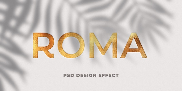 Gold foil text effect mockup