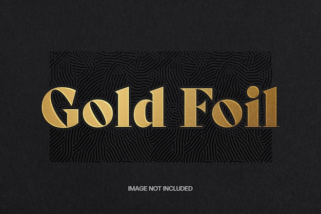 Gold foil text effect template
