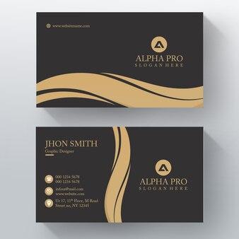 Gold horizontal business card