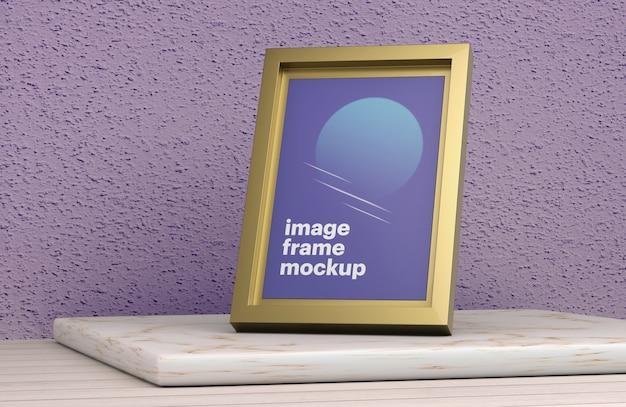 Gold image frame mockup