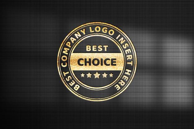 Gold logo  mockup template