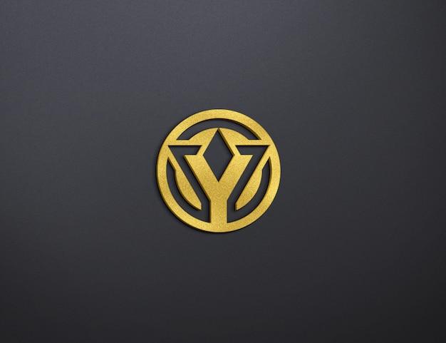 Gold logo mockup