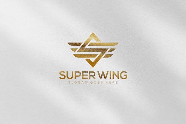 Gold luxury logo mockup template